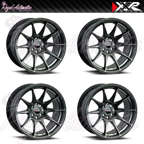 XXR 527 Concave Alloy Wheels 17x7.5 ET40 4x100 4x114.3 Chrome Black JDM Euro